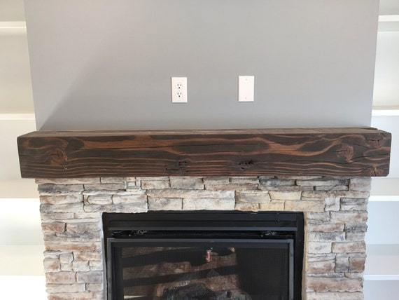 solid wood floating fireplace mantel rustic by woodmetalandbeyond