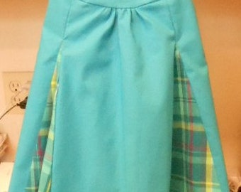 Turquoise blue dress 2T