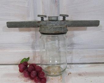 Vintage Jar Closer/ Primitive Jar Closer/ Kitchen Tool/ Lid Closer/ Collectible Rusty Tool/ Оld Cap Closer/ Primitive Can Closer