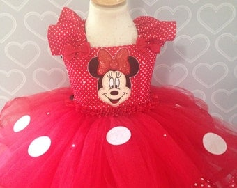 Red Minnie Mouse tutu dress/red Minnie Mouse dress/Minnie mouse dress/Minnie mouse tutu dress/Minnie mouse costume/Minnie birthday dress