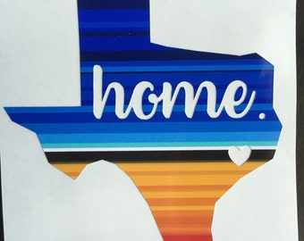 Home Texas Decal Serape Yeti