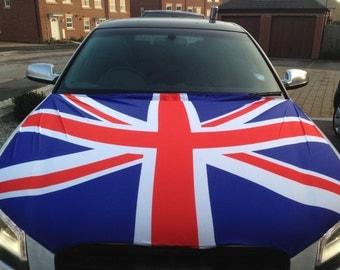 Union Jack Car Bonnet Flag