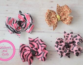 Wild about you - Animal print bow set