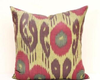Designer ikat Pillow, Ikat pillow, Ikat Pillows, Cotton Cushion, Designer pillow, Decorative Pillow, Couch,Ikat Sofa pillow, Ikat cushion