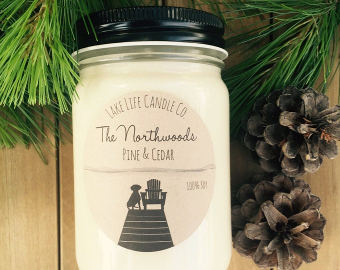 The Northwoods Handmade Soy Candle: Lake Life Candle Co. Made in WI