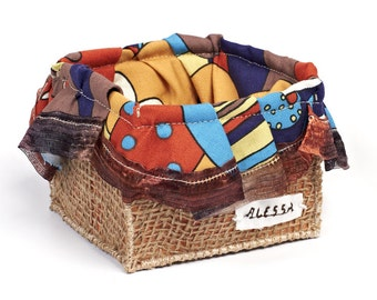 Basket made of fabric