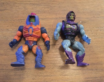Masters of the Universe Man-E-Faces and Battle Armor Skeletor Action Figures