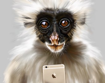 CANVAS Monkey IPad painting