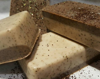 Coffee and Milk exfoliating soap