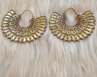 WING EARRINGS (#146) brass jewelry, wings, tribal jewelry, gypsy earrings