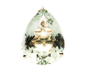 Green Pear Amethyst 16.5 ct Ring