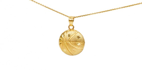 10k yellow gold basketball pendant yellow gold basketball like this item mozeypictures Images