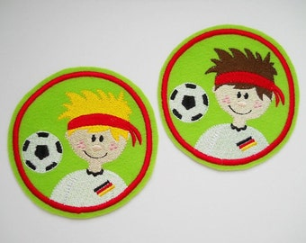 Patch football boy embroidered application EM