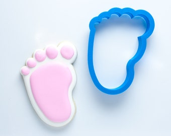 Baby Foot Cookie Cutter (left foot) | Baby Feet Cookie Cutters | Baby Shower Cookie Cutters | Baby Cookie Cutters | Mini Cookie Cutters