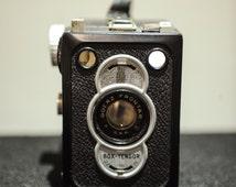 Vintage Zeiss Ikon Box Tengor II Type 55/2 - 6 x 9 Camera with vinyl case - 1950's