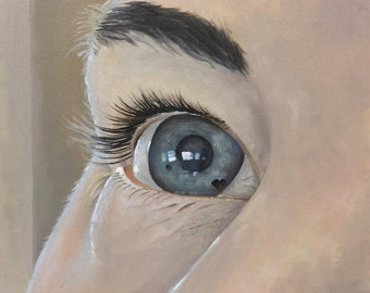 """Oil Painting on Canvas: """"Choroidal Nevus"""" / 18"""" x 18"""""""
