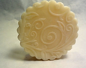 White Soap Rounds Decorative All Natural Organic Handmade Bar Soap