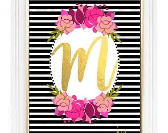 Custom Monogram Digital Print/ Wall Art