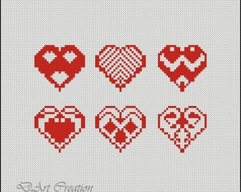 Embroidery cross-stitch / PDF, St.Valentine's day