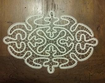 Antique lace doily.