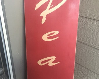 Wood sign - Hand painted - Peace