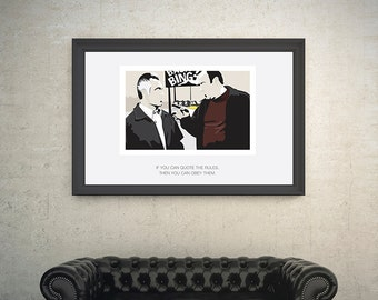The Sopranos, Tony Soprano and Paulie Gualtieri. A4, A3 and A2 poster options, 210gsm Silk,Illustration. Created by Mike Moran