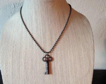 Vintage Barrel Key Necllace
