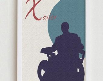 Xavier print X- Men wall art interior decor home design