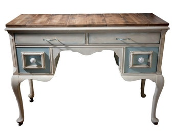 SOLD! French Provincial Writing Table. Vintage Hand Painted Desk