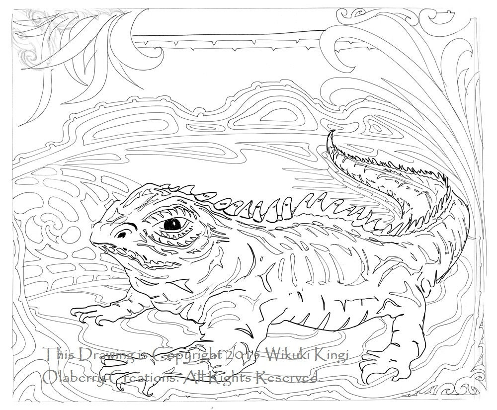Tuatara Reptile Digital Design