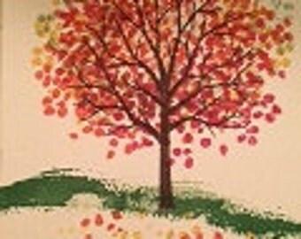 Leaves Falling Card