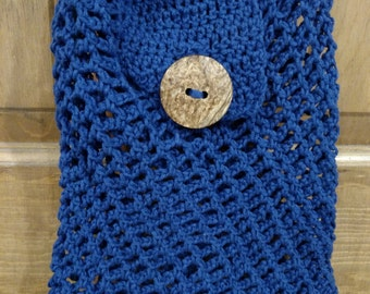 Handmade Blue Purse