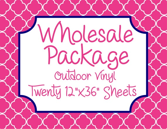 """Wholesale Package for Twenty 12""""x36"""" Outdoor Vinyl Sheets // Beautiful, Vibrant Patterns"""
