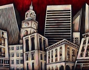 "Baltimore 2 - 12""x18"" Giclée print"