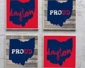 University of Dayton Coasters, Dayton Coasters, Dayton Flyers Coasters, Tile Coasters, Drink Coasters, Handmade Coasters, Coaster Set of 4