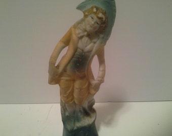 Porcelin girl statue