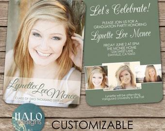 Graduation Announcement & Invitation Postcard - printable card