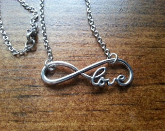 "Infinity ""Love"" Stainless Steel Necklace"