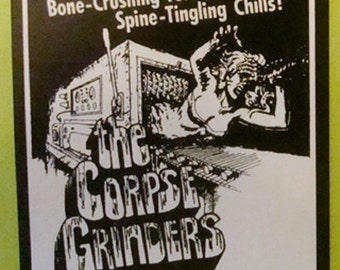 The Corpse Grinders STICKER - vinyl - cult Horror movie - Gore / Ted V. Mikels