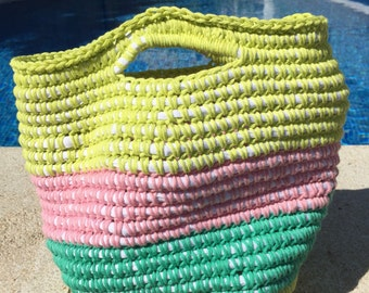 Bag of crochet and trapillo