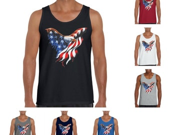 American Eagle Patriotic Men's Fashion Tank Top