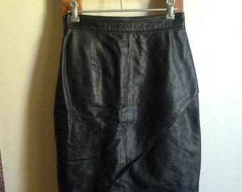 Soft Leather High Waisted Skirt