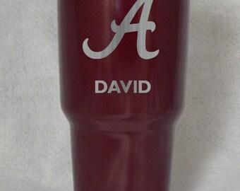 20 30 oz Alabama Roll Tide RTIC YETI custom personalzied cup