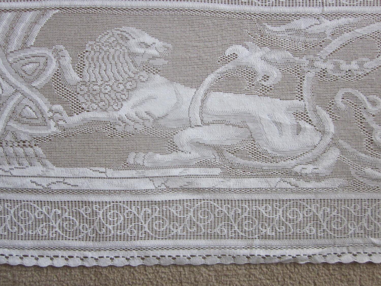 Wicker crib for sale durban - Superb Scottish Lace Tablecloth 12 Place Rectangular 70 X 108 Cream Hanukkah Stunning Tablecloth Montefiore Design Symbolism Cotton