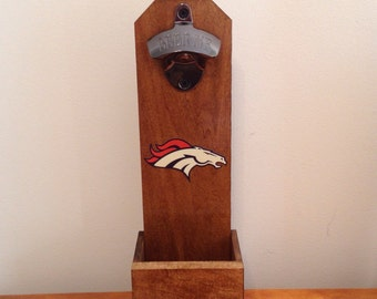Wall Mounted Bottle Opener - Denver Broncos