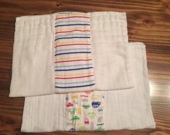cloth diaper burp cloths
