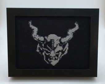 Stone Brewing Gargoyle - Modern Cross Stitch Art
