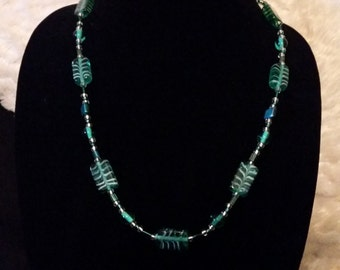 Handcrafted Glass Bead Necklace