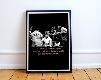 Printable Poster - Rocky Balboa Quote - Typography Print Wall Art Poster Print | dorm decor | instant download | high resolution files