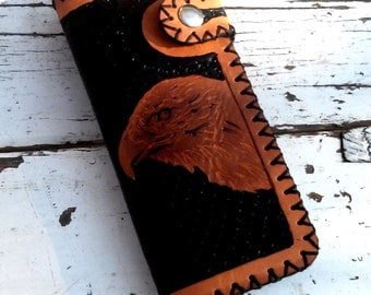 Hand Tooled Eagle, Leather Wallet